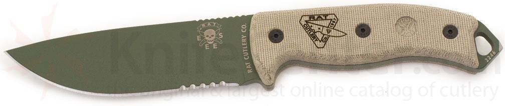 ESEE Knives ESEE-5 OD Plain Blade Knife 01
