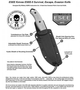 ESEE Knives ESEE-5 OD Plain Blade Knife 03